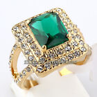 A1-R168 Fashion Simulated Gemstone Ring 18KGP Crystal Size 6.5,8,9
