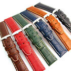Super Padded Croc Grain Watch Band Contrast Stitched 6 Colors Free Pins