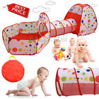 3pcs Children Kids Baby Play Tent And Tunnel Ball Pit Playhouse pop up Best Gift
