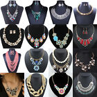 Hot Crystal Rhinestone Chain Necklace Pendant Earrings Sets Womens Jewelry Charm