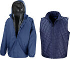 Result 3-in-1 Windproof Waterproof Outer Jacket with Quilted Body warmer Inner