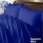 1000TC EGYPTIAN COTTON 4PC BED SHEET SET OLYMPIC QUEEN SIZE ALL STRIPED COLORS