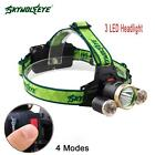 40000LM 5X-XM-L T6 LED Rechargeable USB Headlamp Headlight Head Torch Lamp AD