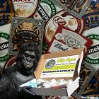 DIP APE BEER LABELS STICKER BOMB BUD HYDROGRAPHIC WATER TRANSFER HYDRO DIP KIT
