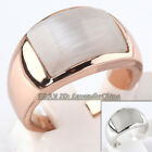 A1-R222 Fashion Simulated Opal Band Ring 18KGP Size 5.5,6,6.5