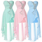 Short Long Bridesmaid Dress Formal Evening Cocktail Prom Party Homecoming Gowns