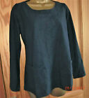 Capri long sleeved navy textured cotton tunic round neck pockets szs 10 to 14