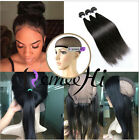 Pre Plucked 360 Lace Frontal With Wig Cap + 3Bundles/150g Silk Straight HOT:)
