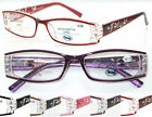 L296 Classic Style Plastic Frame Reading Glasses & Spring Hinges & Great Value