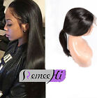 New Pre Plucked Peruvian Virgin Human Hair 360 Lace Frontal Band & Wig cap lace