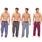 Mens Cargo Bay Lounge Pants Cotton Rich Check Print Pyjama PJ Bottoms