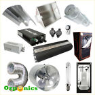 HYDROPONICS GROW TENT ROOM 400W/600W HPS GROW LIGHT AIR COOLED HOOD FAN KIT