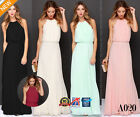 Uk Womens Formal Long Chiffon Prom Evening Bridesmaid Wedding Maxi Dress A020