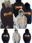 THRASHER Men Hoodie Fleece Pullover Tops Sweaters Hip-hop Skateboard Sweatshirts