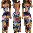 US Women Summer Vintage Boho Long Maxi Party Evening Beach Dress Floral Sundress