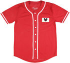 Disney Mickey Mouse 28 1928 Baseball Jersey Mesh Disneyland Vacation Walt Red