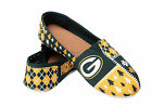Green Bay Packers Green Gold Slip on Canvas Ugly Shoe NFL Womans Licensed