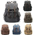 Men Vintage Shoulder Backpack Travelling Hiking School Book Bag Canvas Rucksack