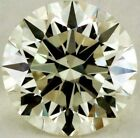 Genuine Loose moissanite light yellow color Round brilliant cut