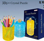 DIY 3D crystal puzzle plastic toy model pen container money coin saving box 1pc