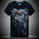 2017 new 3 D printing Feather Wolf - Men's short sleeve cotton T-shirt