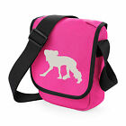 Chinese Crested Dog Silhouette Mini Reporter Bag Shoulder Bags Birthday Gift