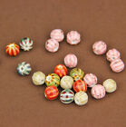 50/100 Qty Speckled Ceramic Watermelon Round Porcelain Beads 10mm