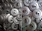 15mm 20mm Brushed Silver Metal 2 Hole Industrial Costume Buttons (MB170-MB171)