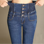 Women Ladies High Waist Slim Skinny Jeans Stretch Pencil Denim Pants Trousers US