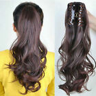"""Big Body Wave 100% Remy human hair extensions Claw Clip Ponytail 16""""-22"""" HOT:)"""