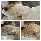 40mm Wired Tweed Style Hessian / Muslin Ribbon. Natural Country Vintage Rustic