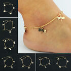 UP Sexy Gold Plated Flower Infinite Leaf Ankle Bracelet Chain Beach Foot Anklet