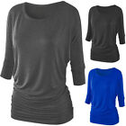 Lady Black Gray Blue Colorful Energetic Popular Fascinating 3/4 Sleeve T-shirt