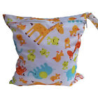 Waterproof Zipper Wet Dry Bag For Baby Infant Diaper Nappy Pouch Cloth Practical