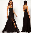Women Summer Boho Long Chiffon Sling Sleeveless Maxi Evening Party Dress Beach