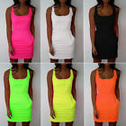 Women's Bandage Square Neck Short Mini Band Dress Party Evening Tank Top Clothes
