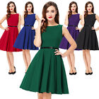 1950'S 60'S Retro DRESS Vintage Flare Swing Pinup Cocktail Housewife Party Dress