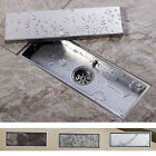 Stainless Steel 30x11cm Invisible Bathroom Kitchen Floor Drain Waste Grate Fille