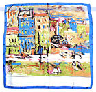 4Colors Beautiful Vintage Scarf/Wrap Bright Colors Oil Painting Square 34 | FJUS