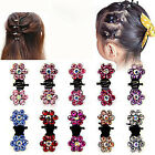 6 Pcs Sale Girl Crystal Rhinestone Flower Mini Hair Claws Clips Clamps