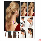 """Promot 16""""-22''Clip In &Wrap Around New Style Ponytail Remy Human Hair Extension"""