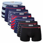 7 Pack Mosmann Men's Classic Underwear Trunks Boxer Briefs Trendy Underpants
