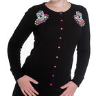 HELL BUNNY Calaveras ~ Sugar Skull Psychobilly Cardigan ~ Day of the Dead Gothic