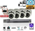 FULL HD 1080P 2.4MP DOME CAMERA Hikvision CCTV SYSTEM OUTDOOR DVR 4 CHANNEL P2P