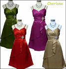Cherlone Damenkleid Cocktailkleid Ballkleid Abendkleid Brautjungfer Kleid 42