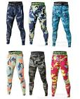 Cheap Men's Camouflage Long Pants Compression Running Workout Tights Base Layer