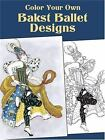 Adult Coloring Book Bakst Ballet Designs Marty Noble Travel Stress Relief NEW