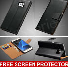 Luxury Genuine Real Leather Flip Case Wallet Cover For Samsung Galaxy S8 Plus