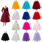 Women Fashion Elegant Multi Color Vintage Tulle Skirt for Party Porm Tutu Dress