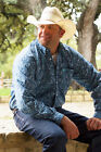Cinch Men's Blue Paisley L/S Shirt MTW1104428